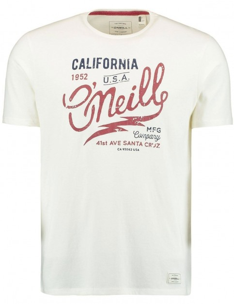 ONeill Logo Type Short Sleeve T-Shirt in Powder White