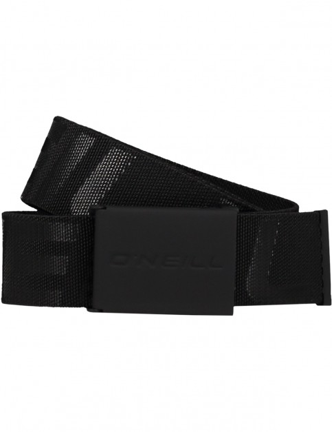 ONeill Logo Webbing Belt in Black Out