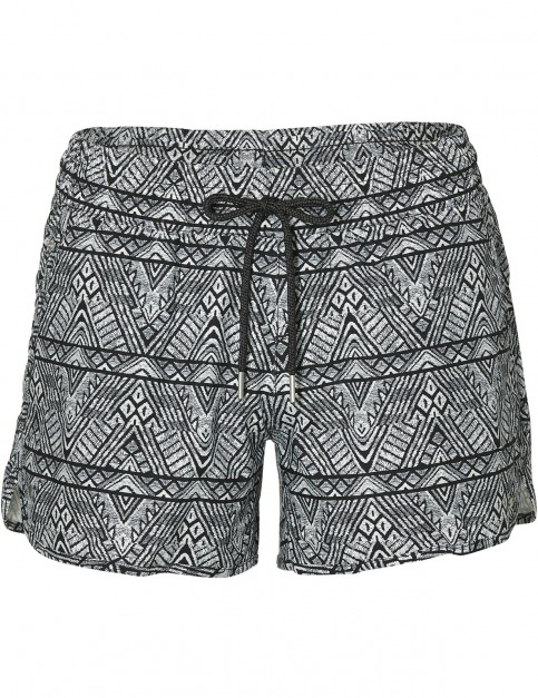 ONeill M & M Print Short Boardshorts in Black Aop W/ White
