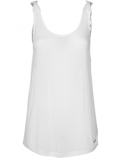 ONeill Macrame Back Sleeveless T-Shirt in Powder White