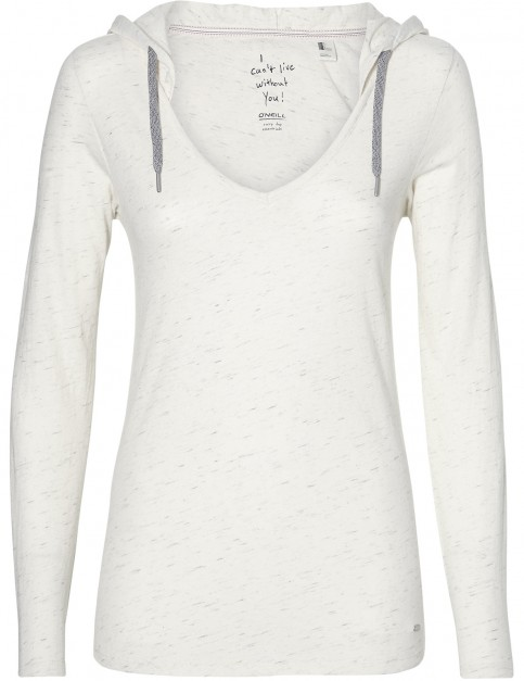 ONeill Marly Long Sleeve Shirt in White Melee