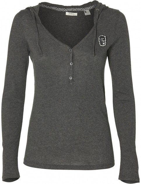 ONeill Marly Long Sleeve T-Shirt in Dark Grey Melee