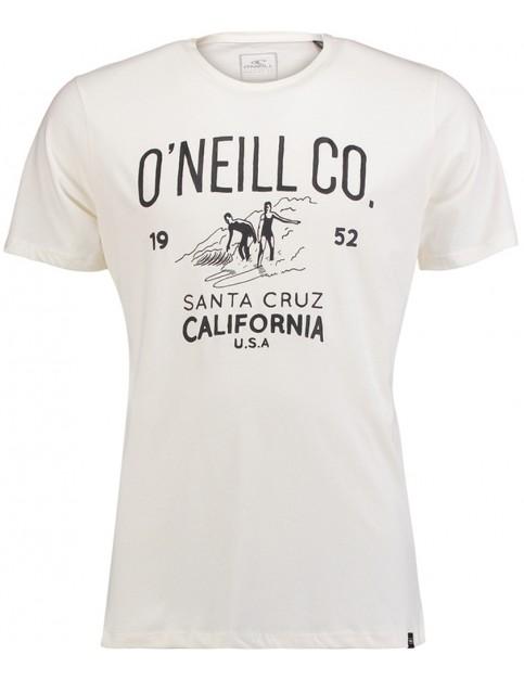 ONeill Partywave Short Sleeve T-Shirt in Powder White