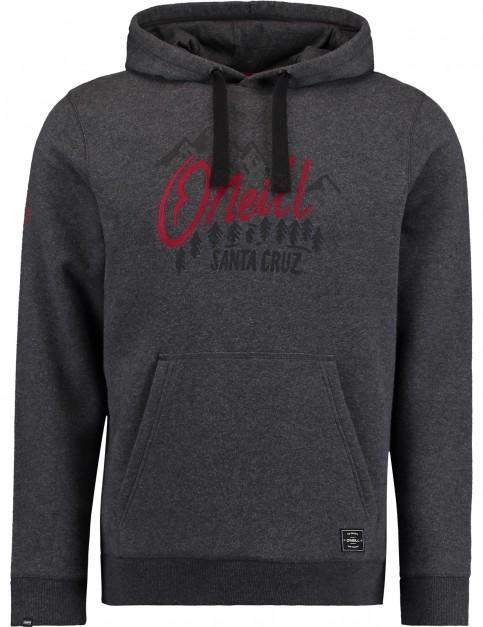 ONeill Pch Logo Pullover Hoody in Dark Grey Melee