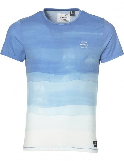 ONeill Photo Art Short Sleeve T-Shirt in White Aop W/ Blue