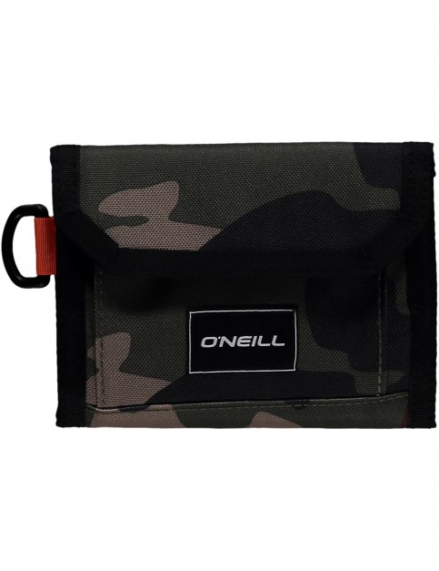 ONeill Pocketbook Polyester Wallet in Green Aop
