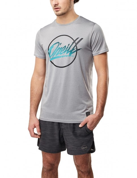 ONeill Re-Issue Hybrid Short Sleeve T-Shirt in Silver Melee