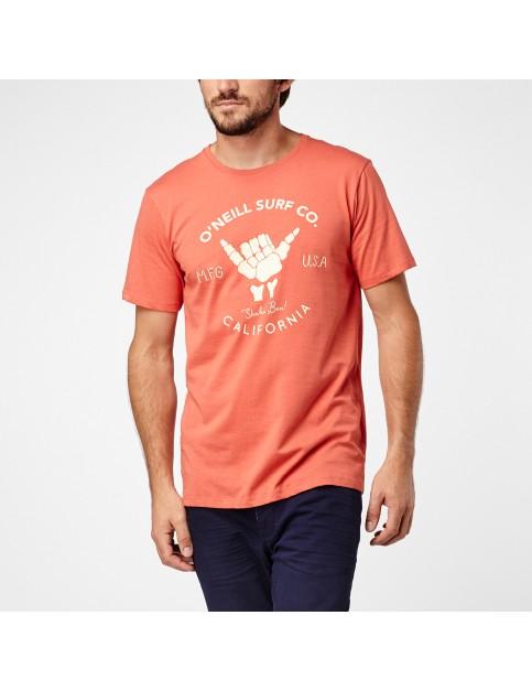 ONeill Shaka Short Sleeve T-Shirt in Burnt Sienna