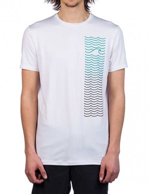 ONeill Shoreline Hybrid Surf Tee in Super White