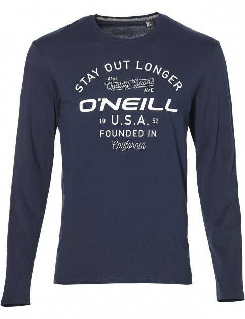 ONeill Stay Out Long Sleeve T-Shirt in Ink Blue