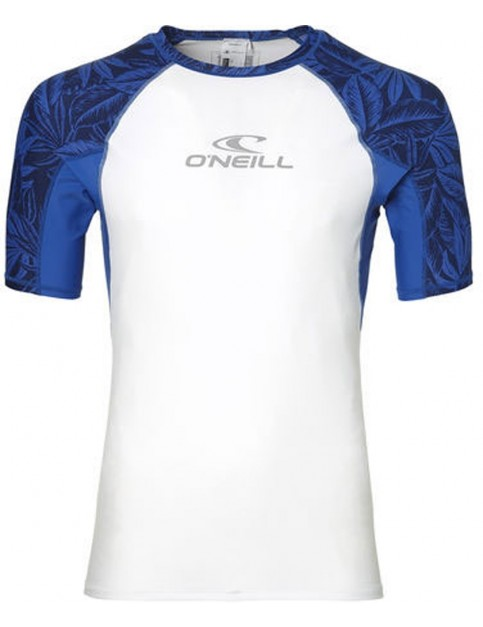 ONeill Sun Short Sleeve Rash Vest in Super White