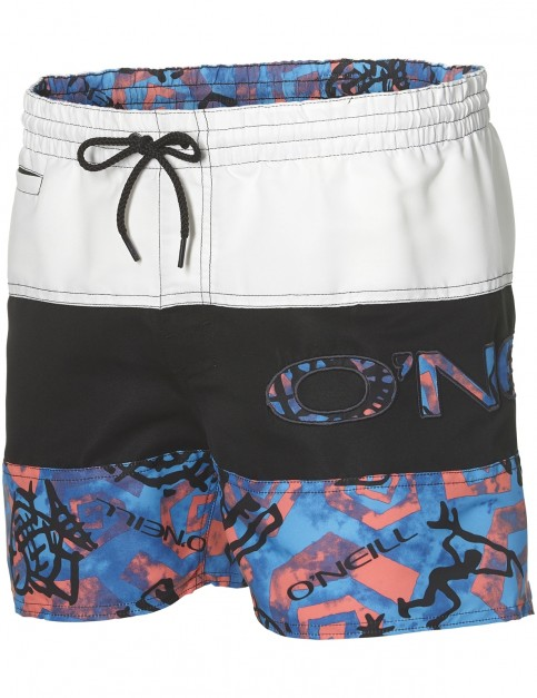 ONeill Throwback Mid Length Boardshorts in Blue Aop