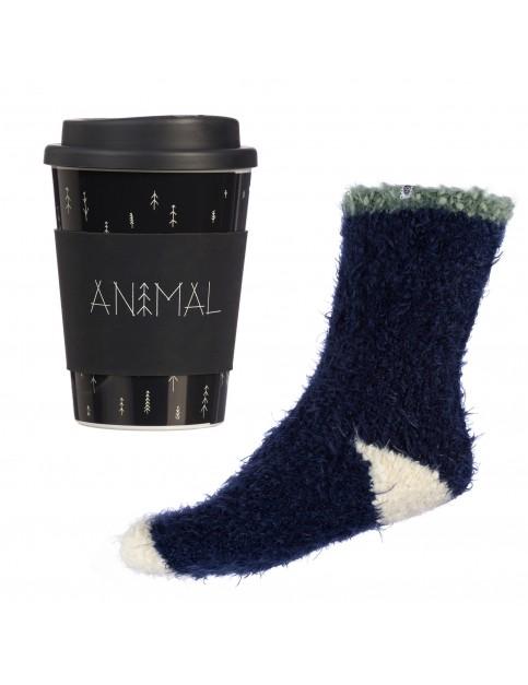 Animal Travellers Travel Cup & Sock Set Fun Stuff in Dark Navy
