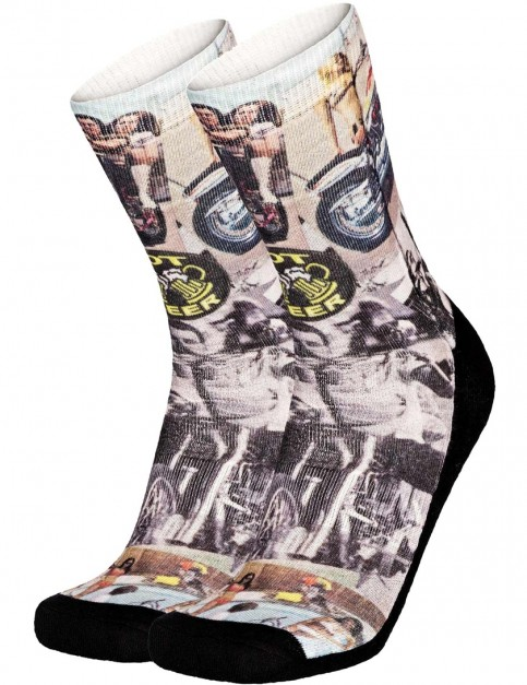 Pullin So-Long Chopper Crew Socks in Multi