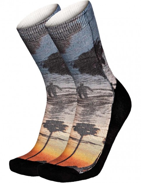 Pullin So-Long Malibu Crew Socks in Multi