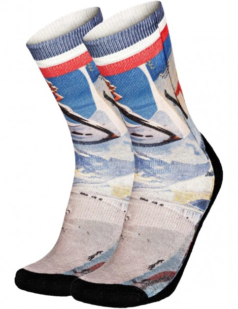 Pullin So-Long Vintageski Crew Socks in Multi