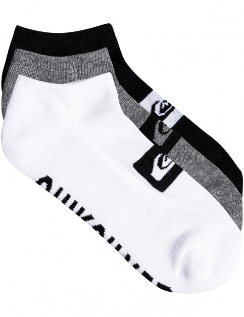 Quiksilver 3 Ankle Pack Ankle Socks in Assorted