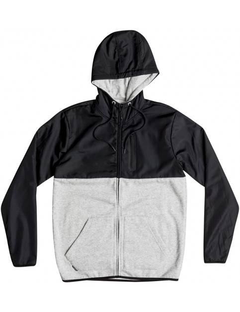 Quiksilver Active Nylon Zipped Hoody in Light Grey Heather
