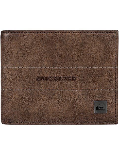 Chocolate Quiksilver Anthro Faux Leather Wallet