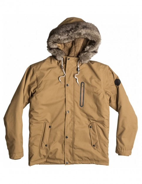 Dull Gold Quiksilver Arris Parka Jacket