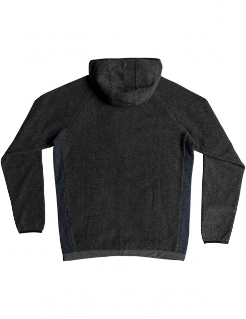 Quiksilver Bigger Boat Zipped Hoody in Charcoal Heather