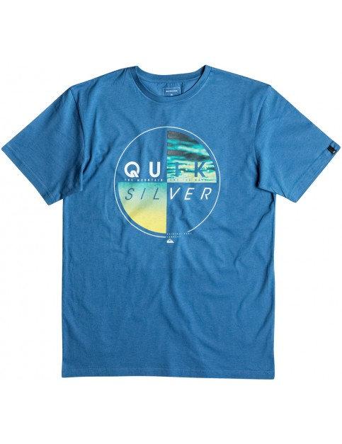 Quiksilver Blazed Short Sleeve T-Shirt in Vallarta Blue