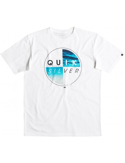 Quiksilver Blazed Short Sleeve T-Shirt in White