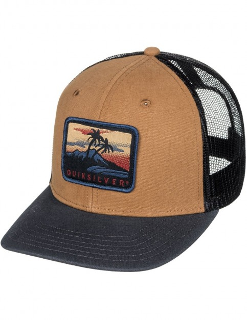 Quiksilver Blocked Out Cap in Wood Thrush
