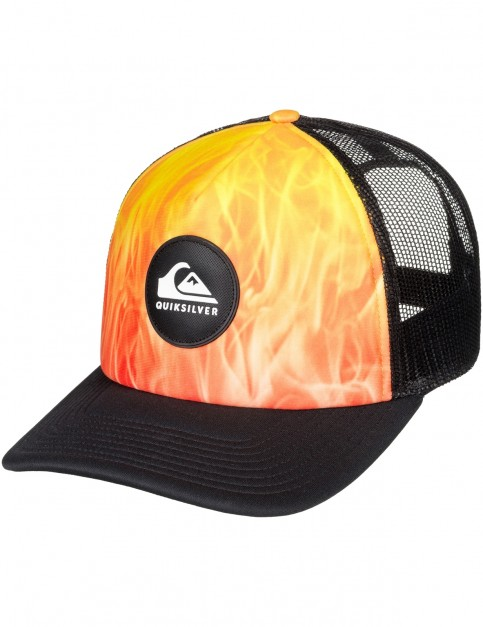 Quiksilver Bright Learnings Cap in Tiger Orange