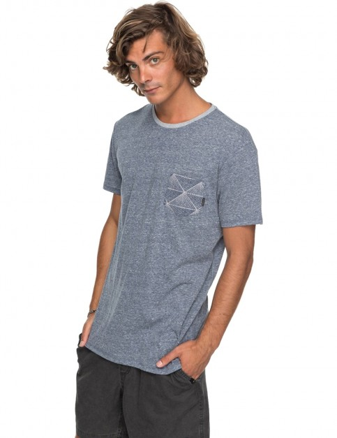 Quiksilver Broken Leash Short Sleeve T-Shirt in Navy Blazer Heather