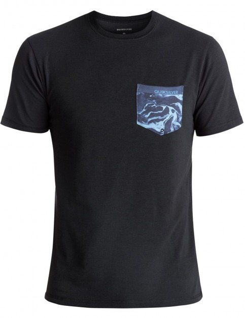 Quiksilver Bubble Surf Short Sleeve Rash Vest in Black