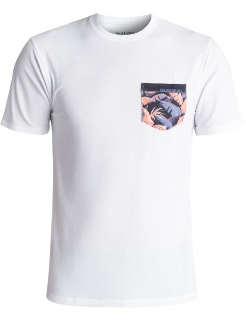Quiksilver Bubble Surf Short Sleeve Rash Vest in White