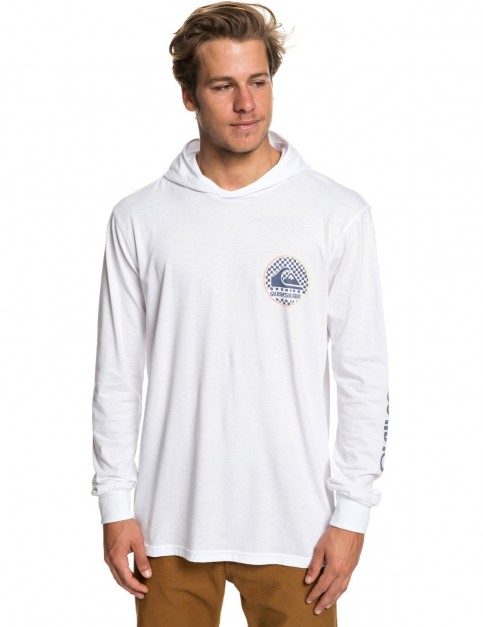 Quiksilver Check This Hoodie Long Sleeve T-Shirt in White