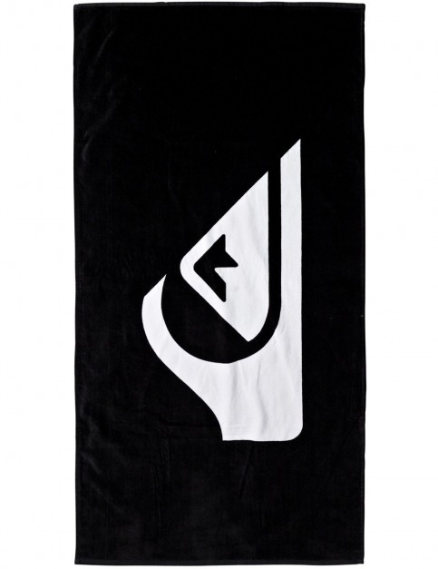Quiksilver Chilling Beach Towel in True Black
