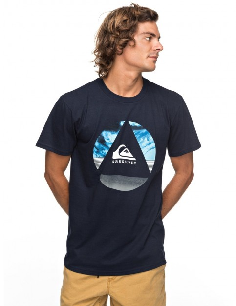 Quiksilver Classic Fluid Turns Short Sleeve T-Shirt in Navy Blazer