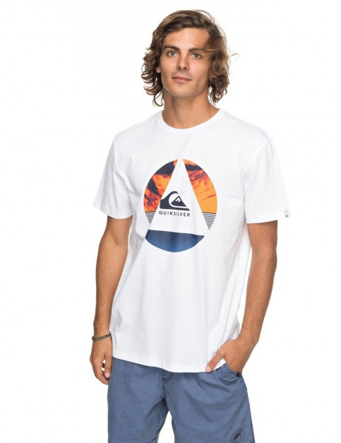 Quiksilver Classic Fluid Turns Short Sleeve T-Shirt in White