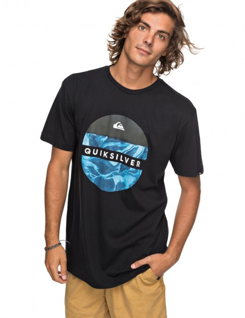 Quiksilver Classic Outer Hacka Short Sleeve T-Shirt in Black