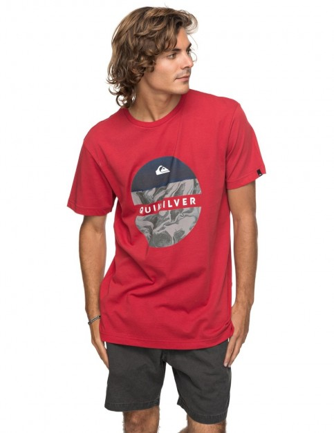 Quiksilver Classic Ouer Hacka Short Sleeve T-Shirt in Chili Pepper