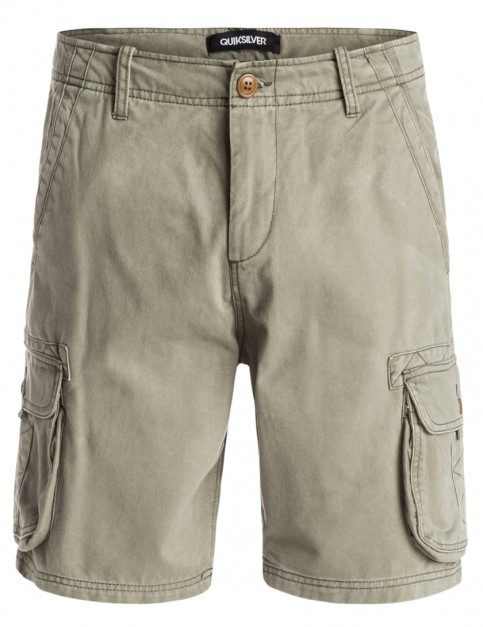 Dusty Olive Quiksilver Deluxe Cargo Shorts