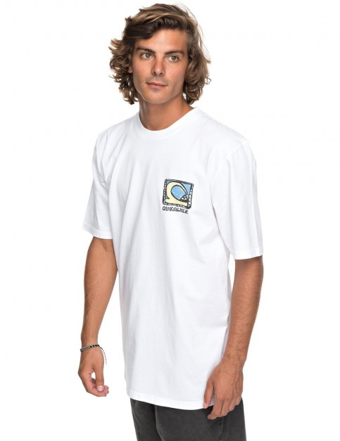 Quiksilver Durable Dens Way Short Sleeve T-Shirt in White