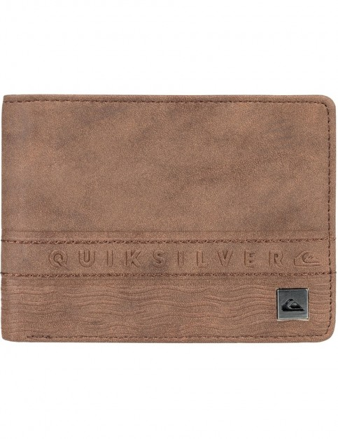 Quiksilver Everyday Stripe III Faux Leather Wallet in Chocolate