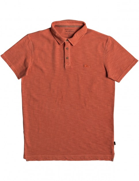 Quiksilver Everyday Sun Cruise Polo Shirt in Orange Rust