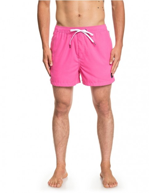 Quiksilver Everyday Volley 15 Elasticated Boardshorts in Carmine Rose