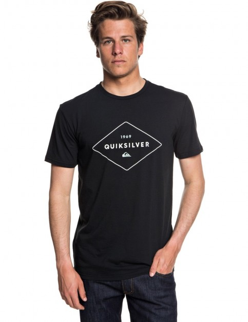 Quiksilver Fluid Flow Short Sleeve T-Shirt in Black