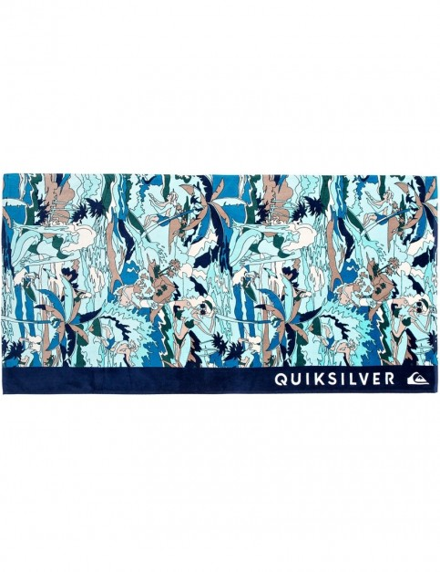 Quiksilver Freshness Beach Towel in Medieval Blue