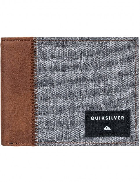 Quiksilver Freshness Plus 4 Polyester Wallet in Light Grey Heather