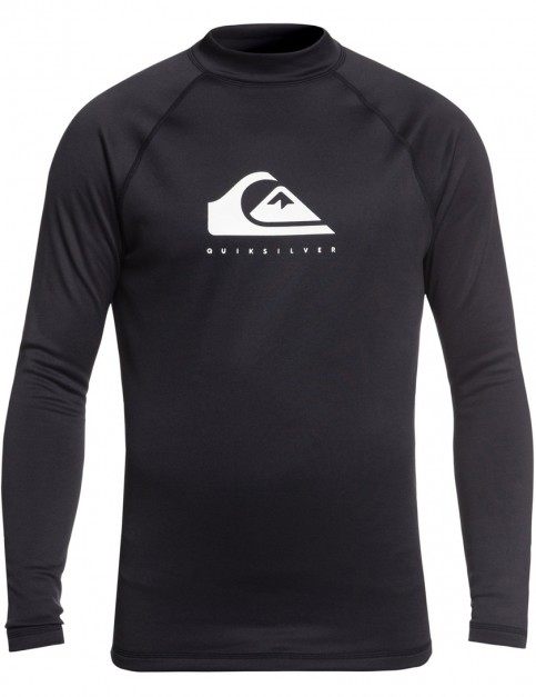 Quiksilver Heater Long Sleeve Rash Vest in Black