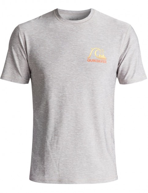 Quiksilver Heritage Short Sleeve Rash Vest in Silver Sconce