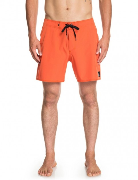 Quiksilver Highline Kaimana 16 Short Boardshorts in Tiger Orange