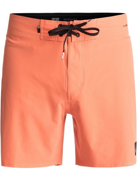 Quiksilver Highline Kaimana Mid Length Boardshorts in Cadmium Orange